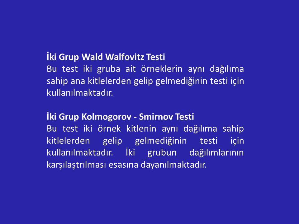 İki Grup Wald Walfovitz Testi