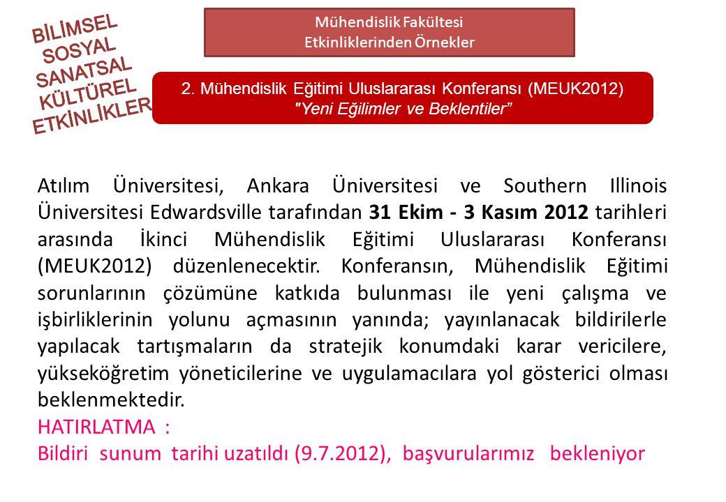 Bildiri sunum tarihi uzatıldı (9.7.2012), başvurularımız bekleniyor