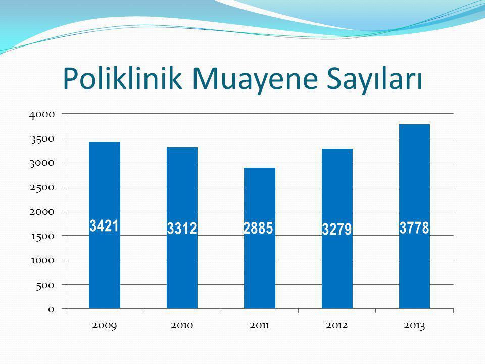 Poliklinik Muayene Sayıları