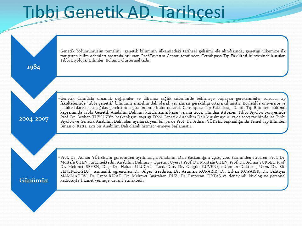Tıbbi Genetik AD. Tarihçesi