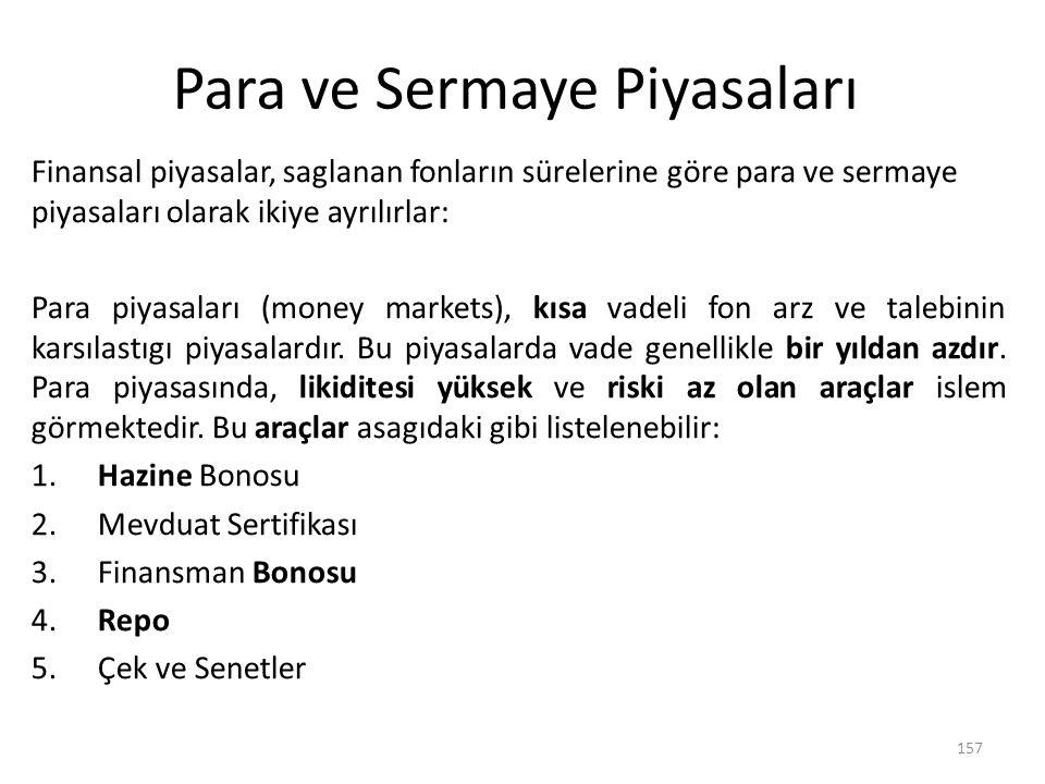 Para ve Sermaye Piyasaları