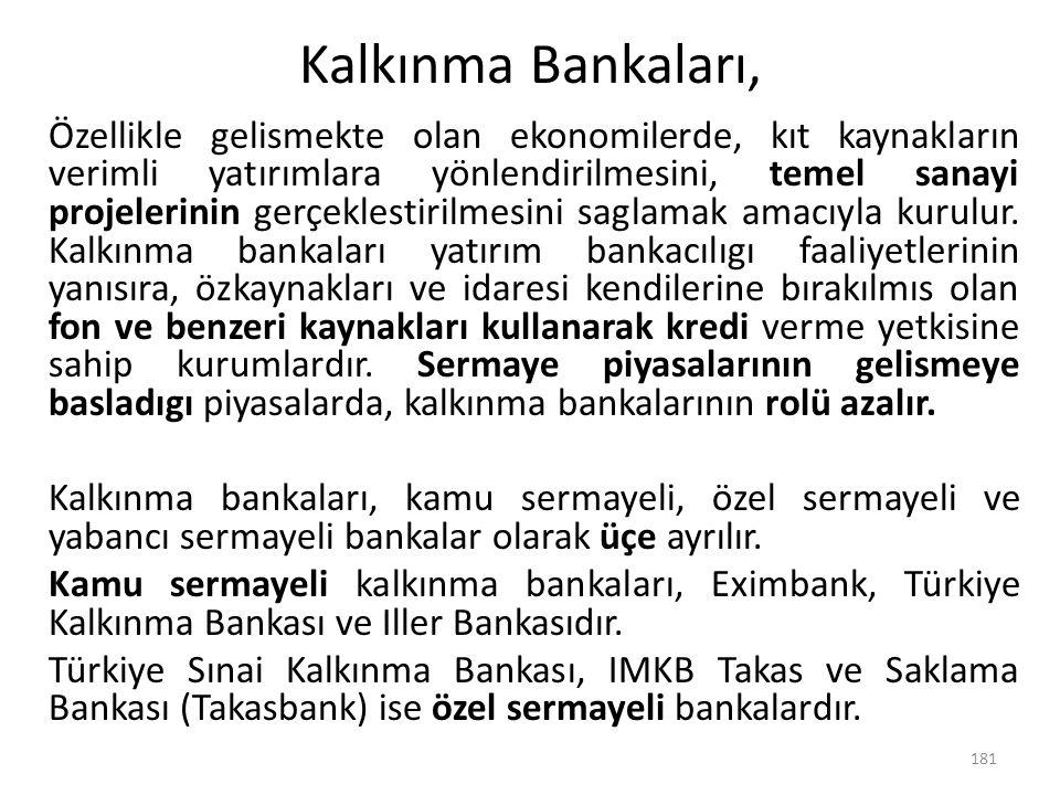 Kalkınma Bankaları,