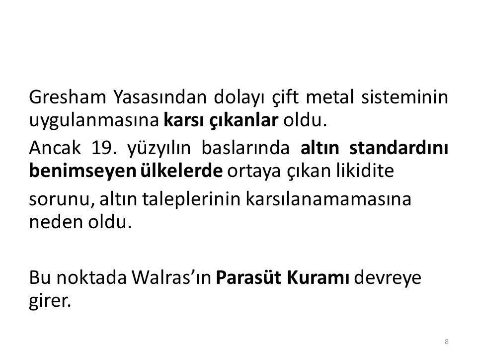 Gresham Yasasından dolayı çift metal sisteminin uygulanmasına karsı çıkanlar oldu.