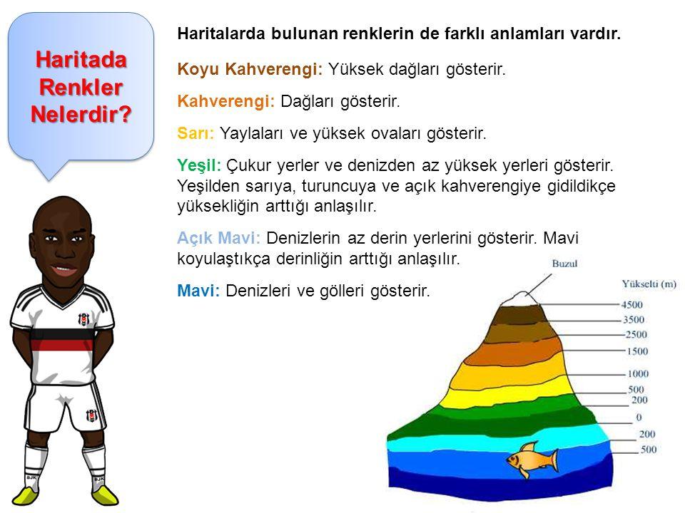 Haritada Renkler Nelerdir