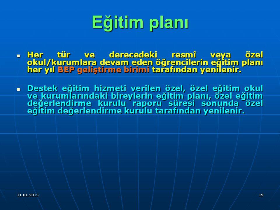 Eğitim planı