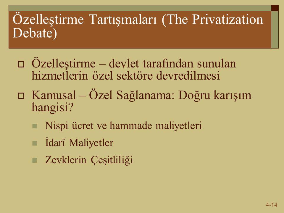Özelleştirme Tartışmaları (The Privatization Debate)