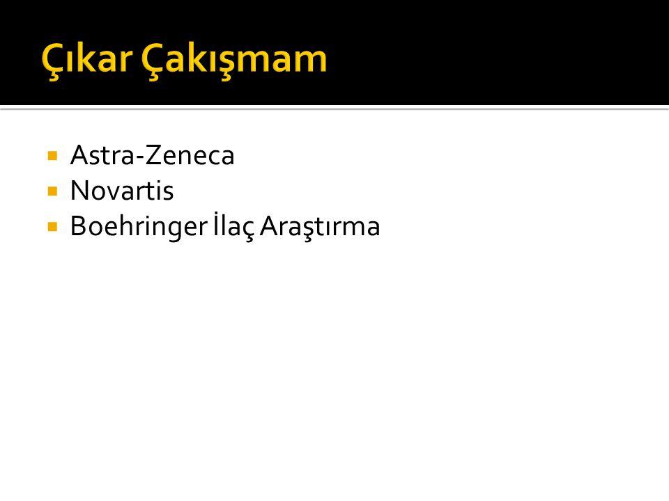Çıkar Çakışmam Astra-Zeneca Novartis Boehringer İlaç Araştırma
