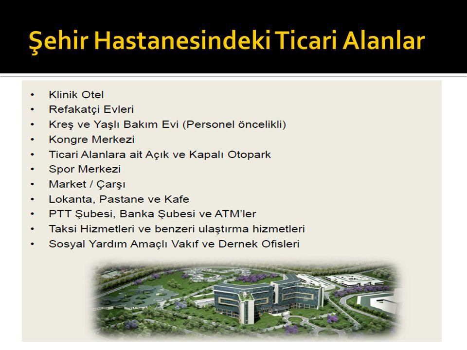 Şehir Hastanesindeki Ticari Alanlar