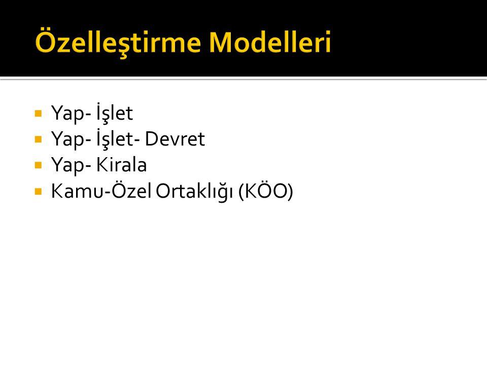 Özelleştirme Modelleri