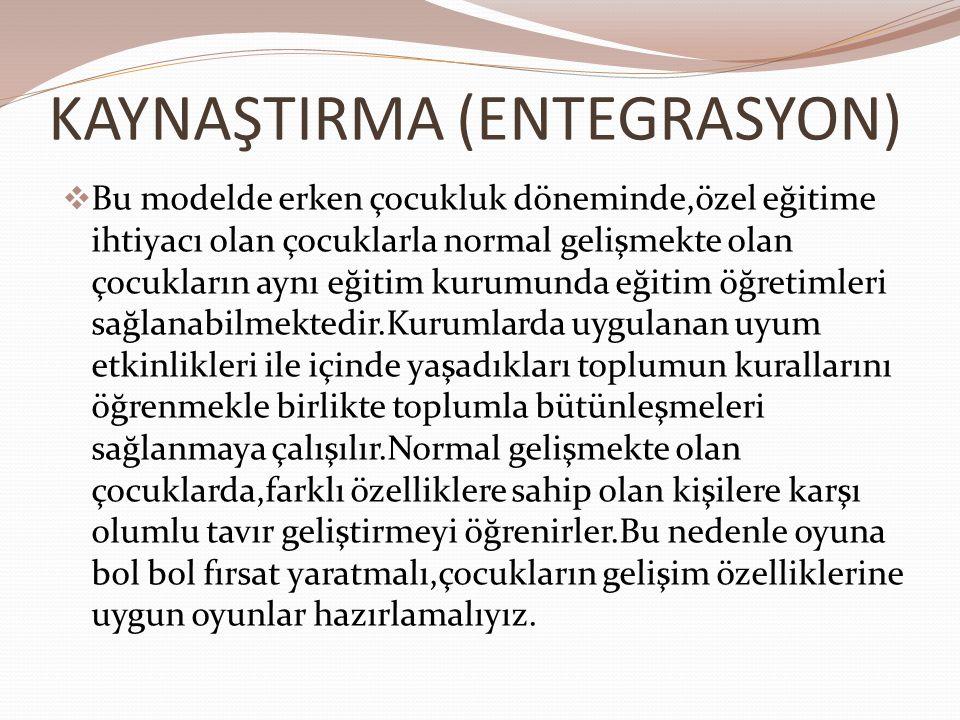 KAYNAŞTIRMA (ENTEGRASYON)