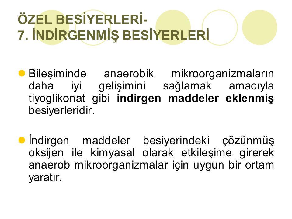 ÖZEL BESİYERLERİ- 7. İNDİRGENMİŞ BESİYERLERİ