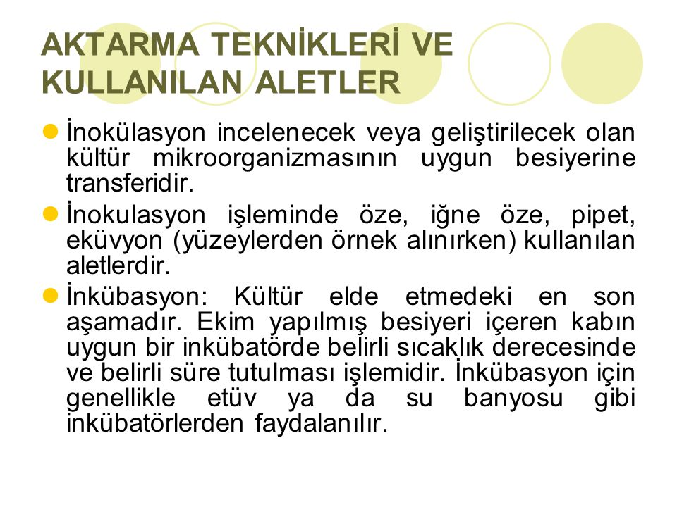 AKTARMA TEKNİKLERİ VE KULLANILAN ALETLER