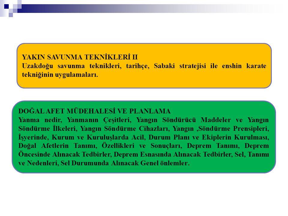 YAKIN SAVUNMA TEKNİKLERİ II