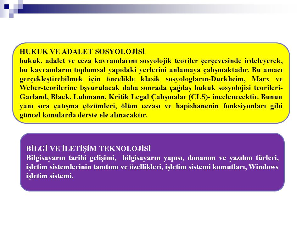 HUKUK VE ADALET SOSYOLOJİSİ
