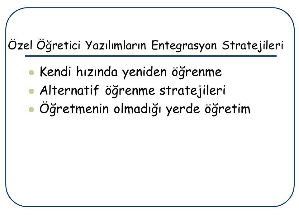 Özel Öğretici Yazılımların Entegrasyon Stratejileri