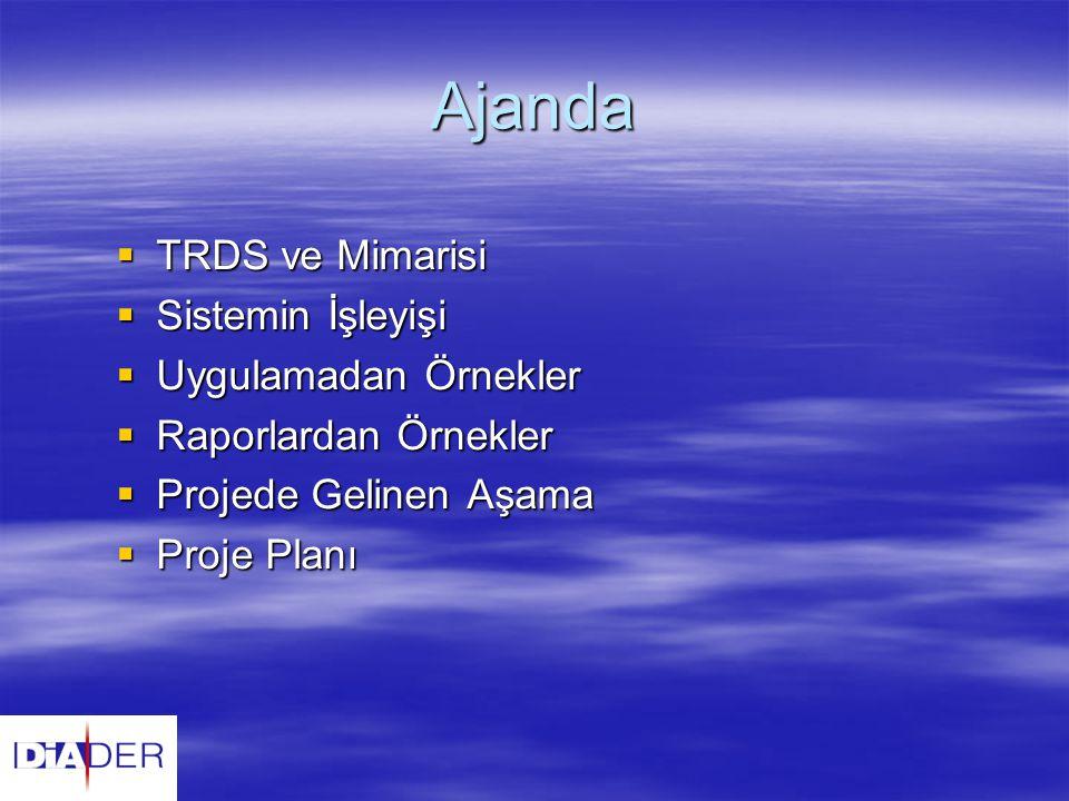 Ajanda TRDS ve Mimarisi Sistemin İşleyişi Uygulamadan Örnekler