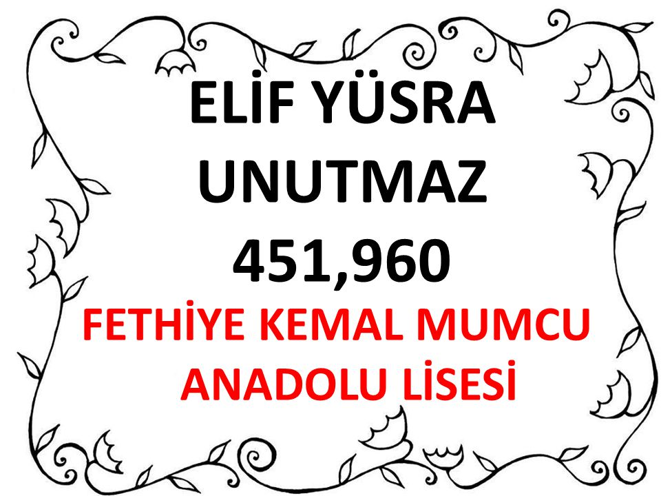 FETHİYE KEMAL MUMCU ANADOLU LİSESİ