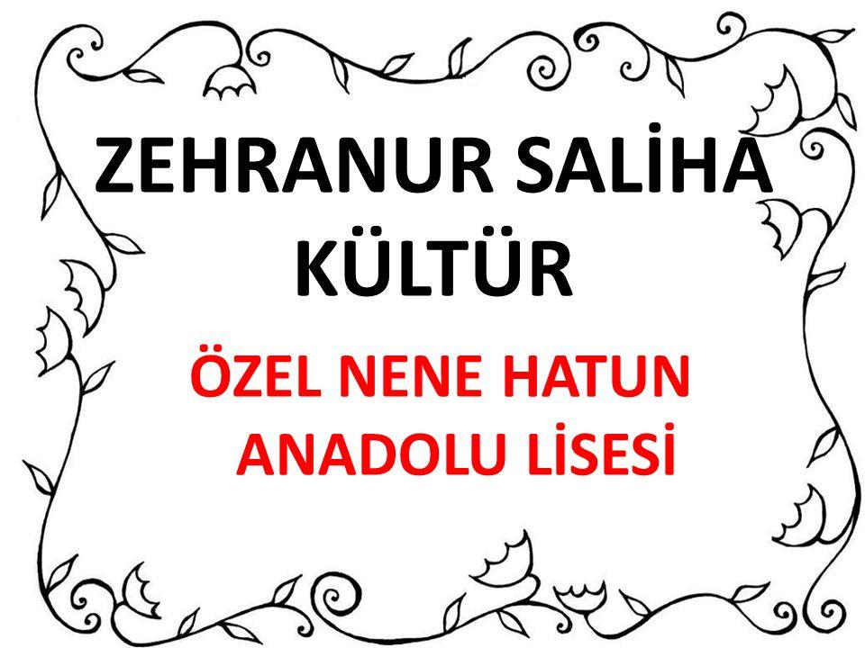 ZEHRANUR SALİHA KÜLTÜR
