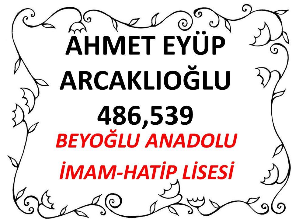 AHMET EYÜP ARCAKLIOĞLU 486,539