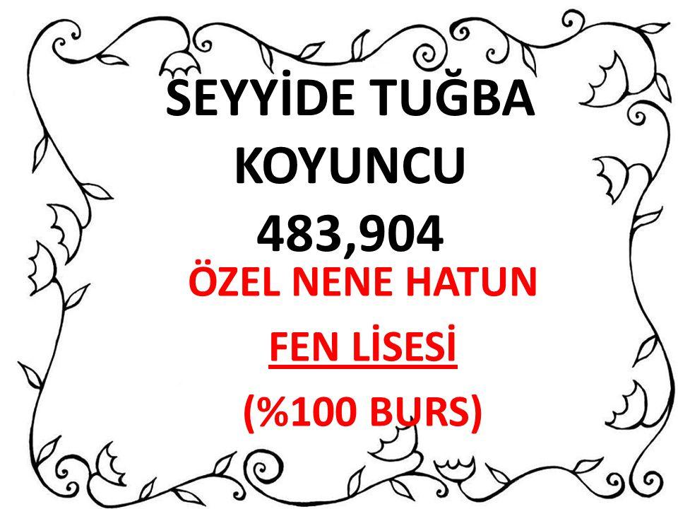 ÖZEL NENE HATUN FEN LİSESİ (%100 BURS)