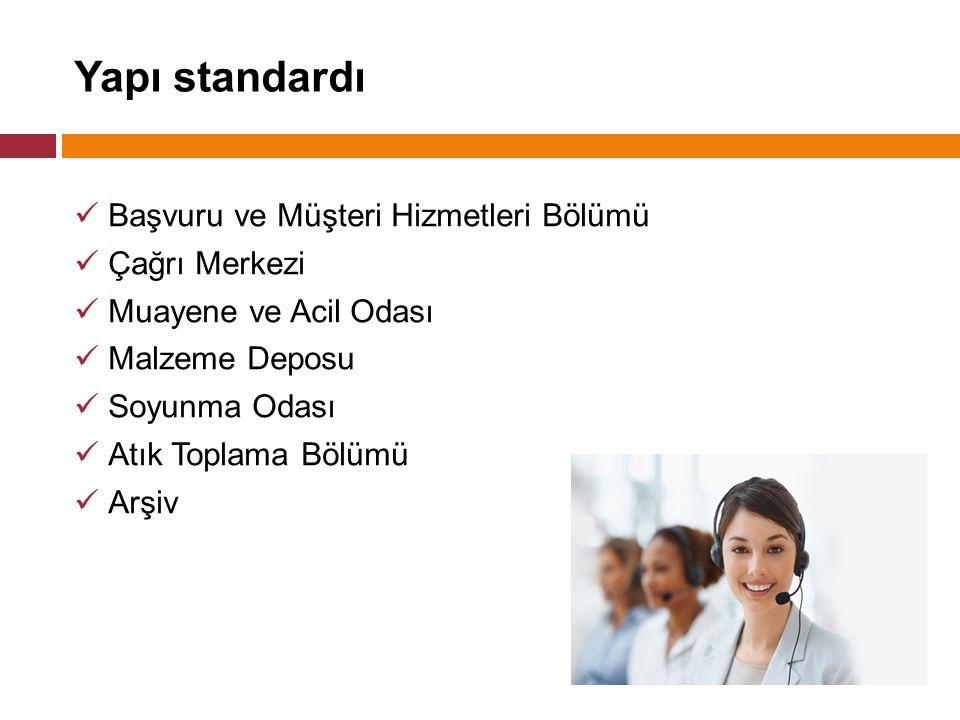 Yapı standardı Başvuru ve Müşteri Hizmetleri Bölümü Çağrı Merkezi