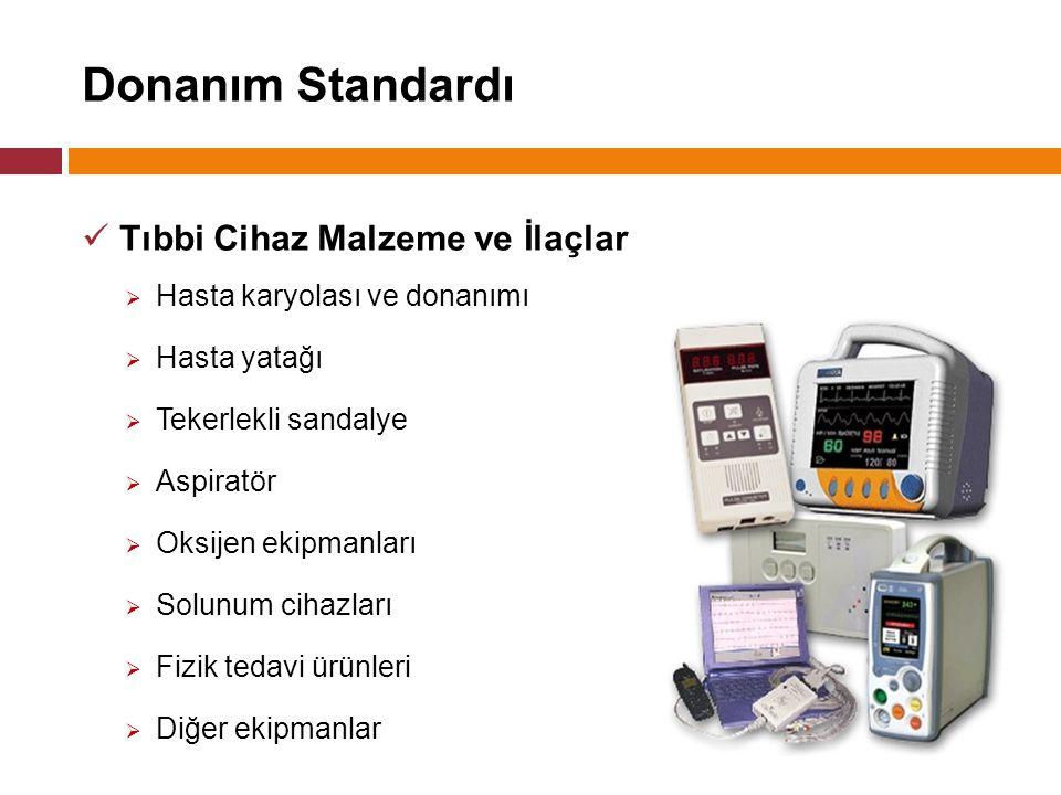 Donanım Standardı Tıbbi Cihaz Malzeme ve İlaçlar