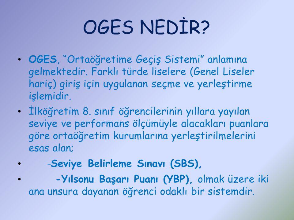 OGES NEDİR