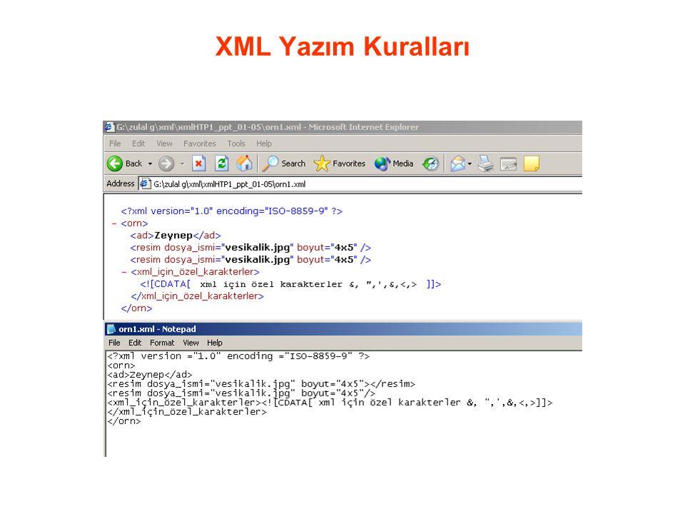 XML Yazım Kuralları