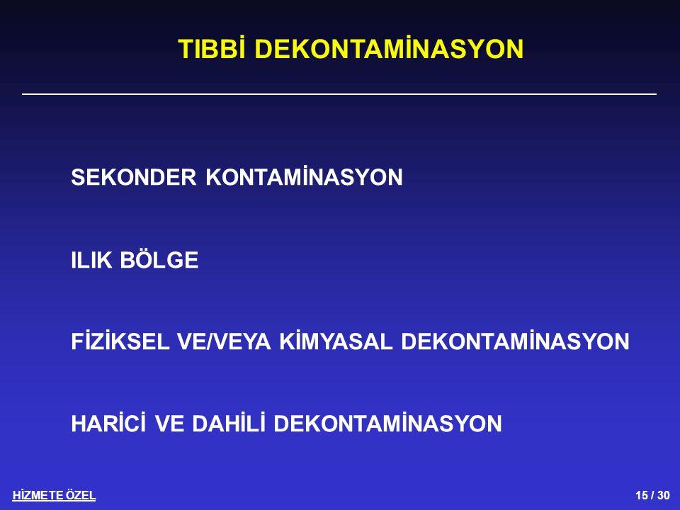 TIBBİ DEKONTAMİNASYON