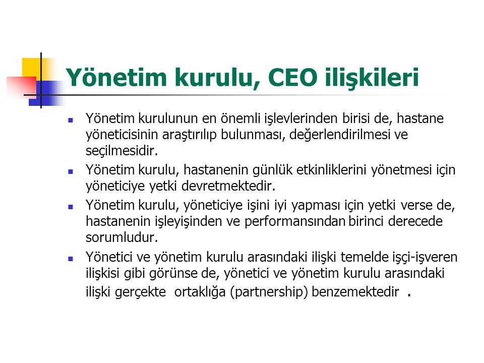 Yönetim kurulu, CEO ilişkileri