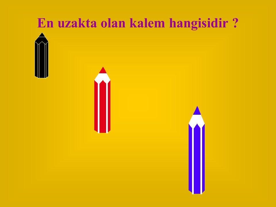 En uzakta olan kalem hangisidir