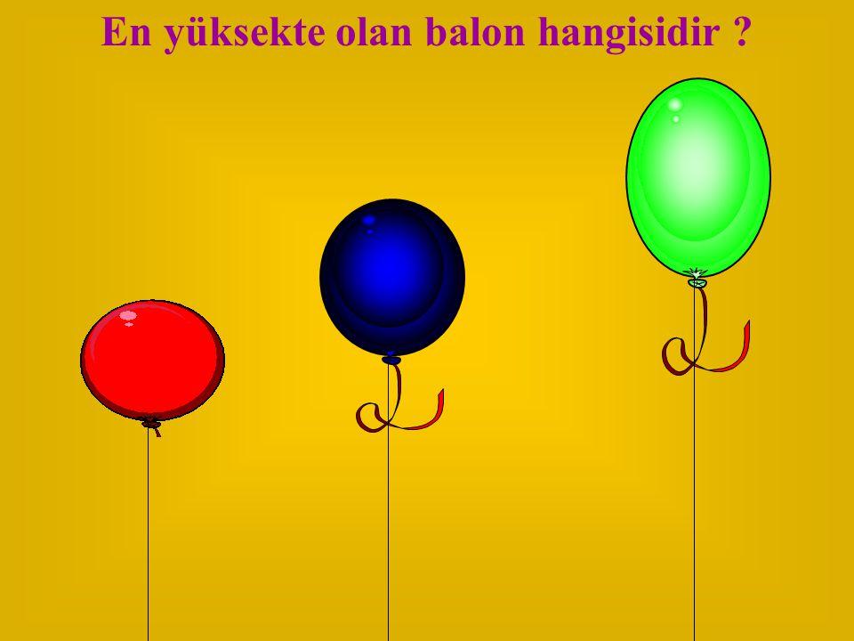 En yüksekte olan balon hangisidir