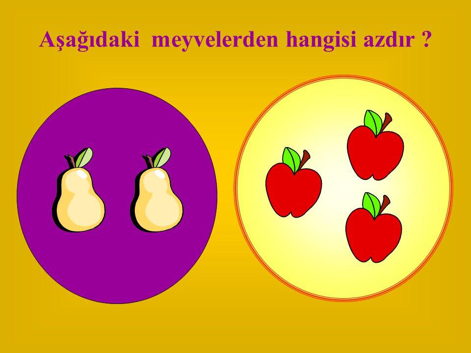Aşağıdaki meyvelerden hangisi azdır