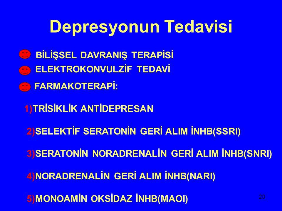 Depresyonun Tedavisi BİLİŞSEL DAVRANIŞ TERAPİSİ