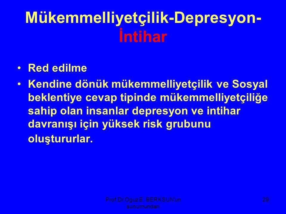Mükemmelliyetçilik-Depresyon-İntihar