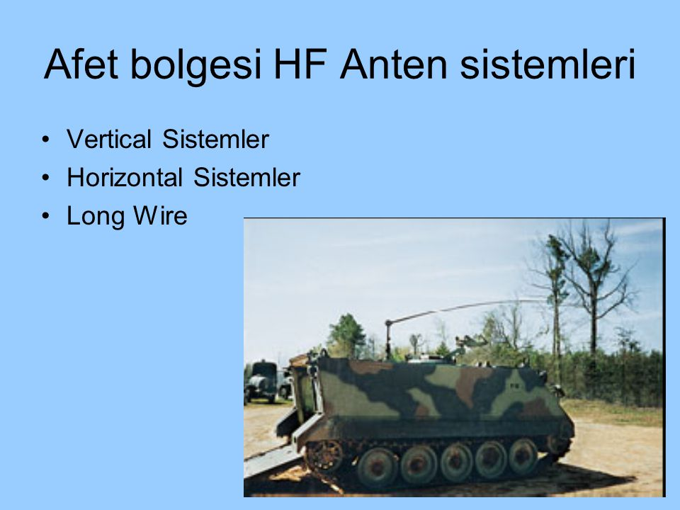 Afet bolgesi HF Anten sistemleri