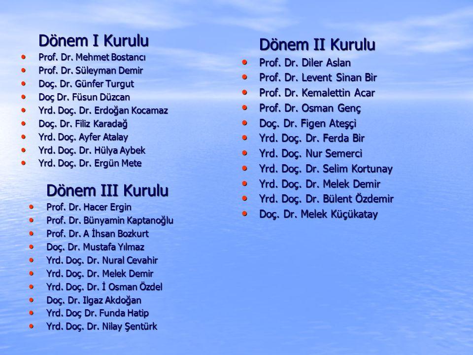 Dönem I Kurulu Dönem II Kurulu Dönem III Kurulu Prof. Dr. Diler Aslan
