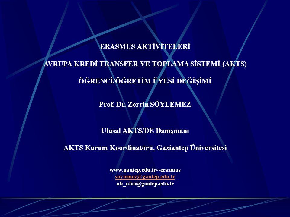 AVRUPA KREDİ TRANSFER VE TOPLAMA SİSTEMİ (AKTS)