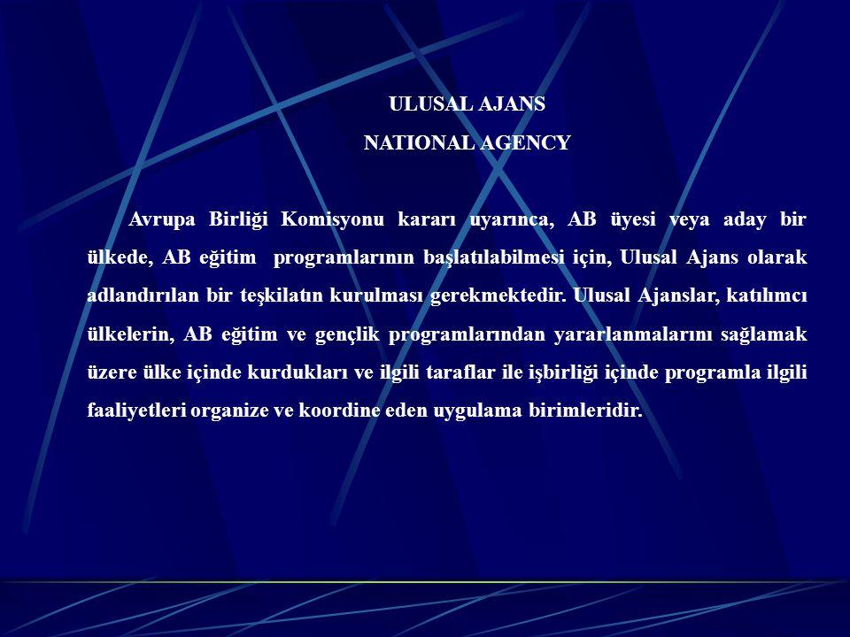 ULUSAL AJANS NATIONAL AGENCY.