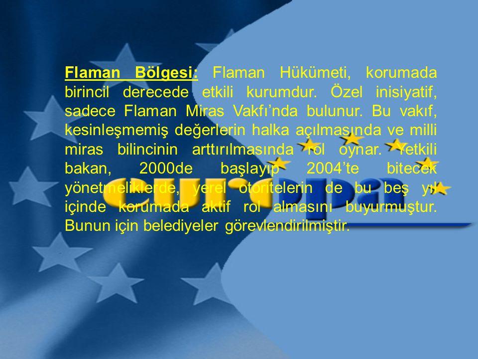 Flaman Bölgesi: Flaman Hükümeti, korumada birincil derecede etkili kurumdur.