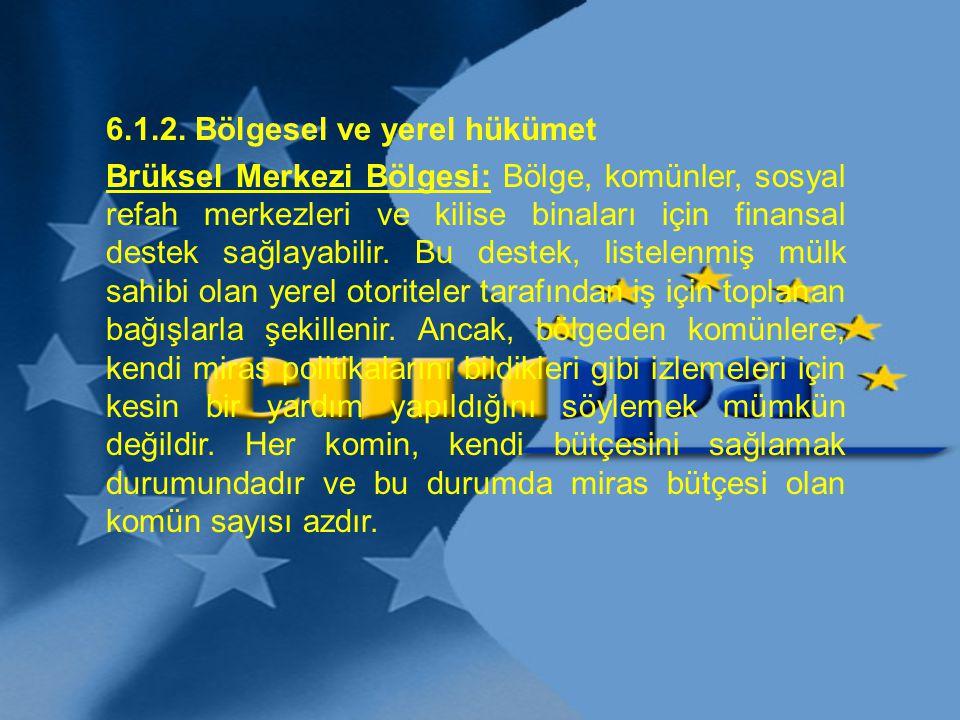 6.1.2. Bölgesel ve yerel hükümet