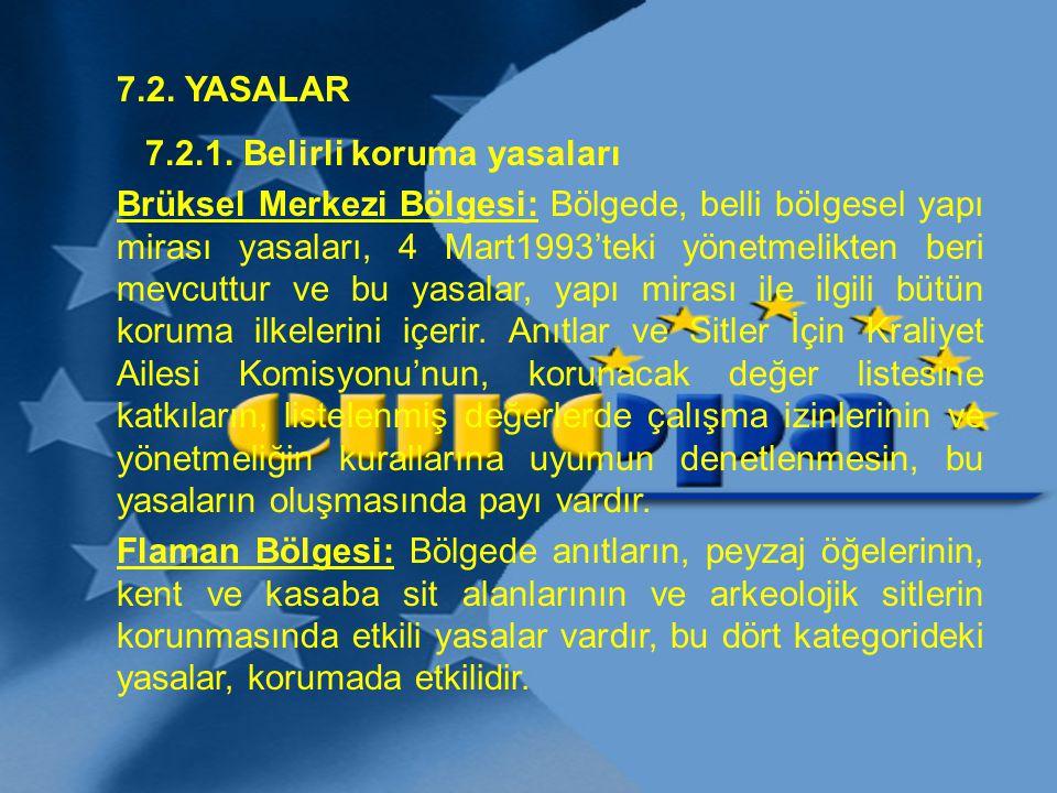 7.2. YASALAR 7.2.1. Belirli koruma yasaları.