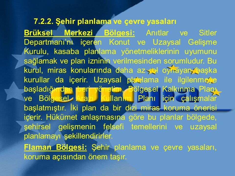 7.2.2. Şehir planlama ve çevre yasaları