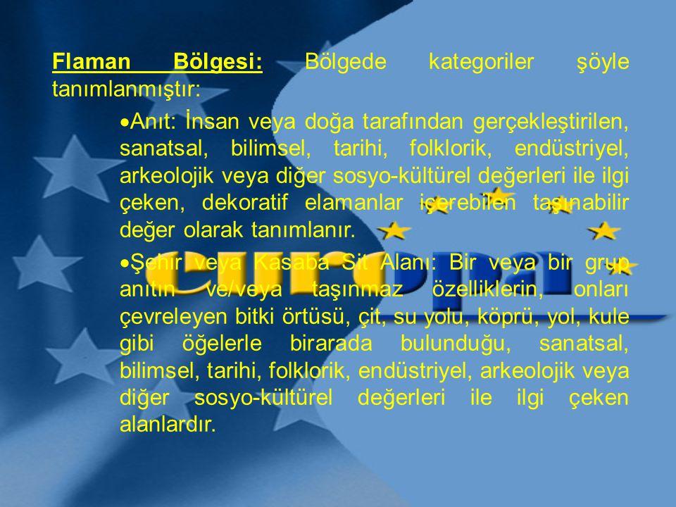Flaman Bölgesi: Bölgede kategoriler şöyle tanımlanmıştır: