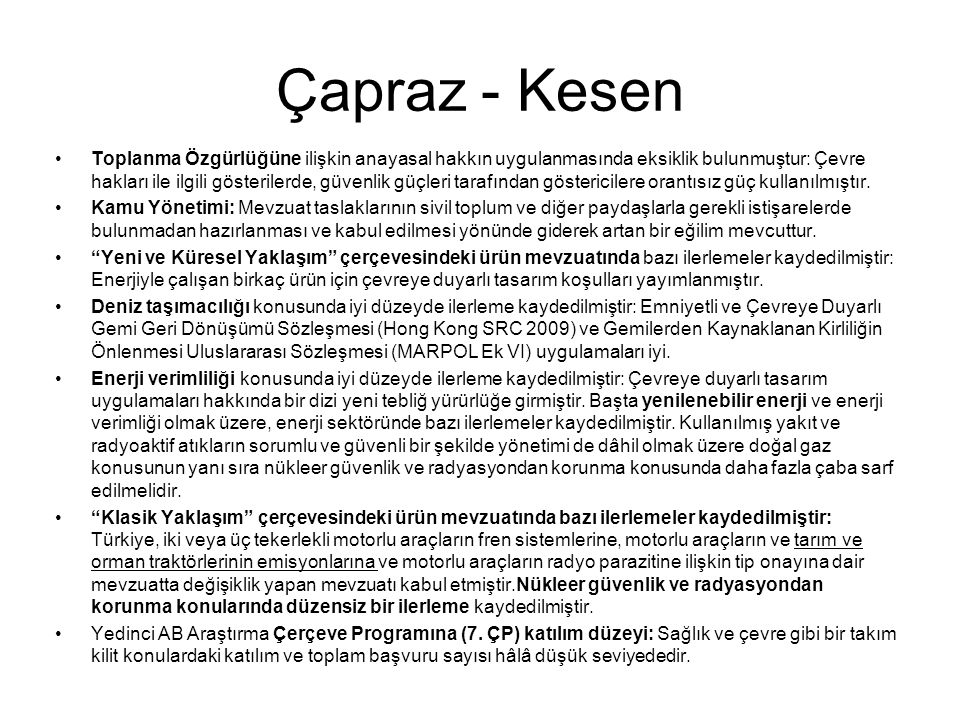 Çapraz - Kesen