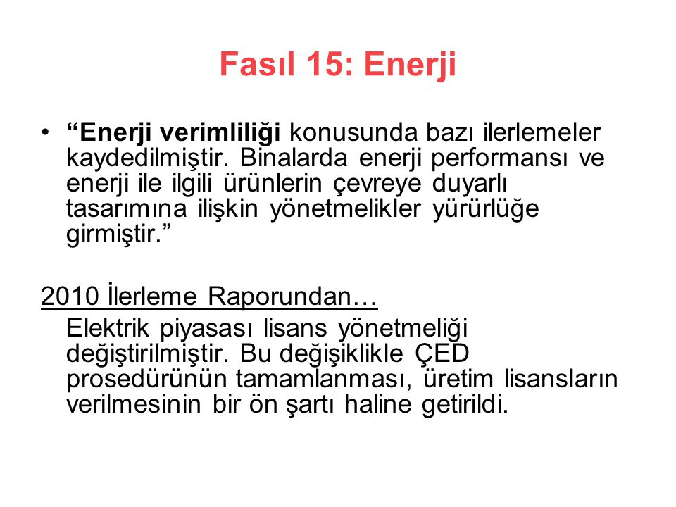Fasıl 15: Enerji