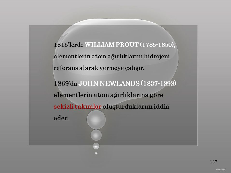 1815'lerde WİLLİAM PROUT (1785-1850),