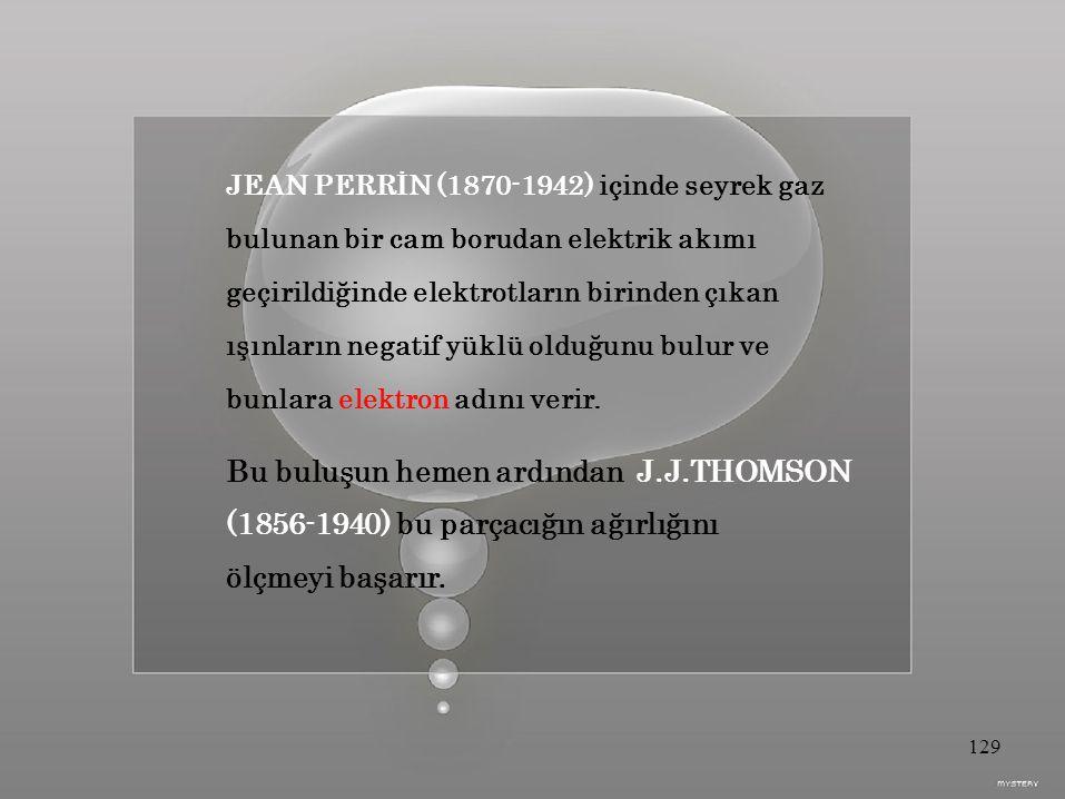 JEAN PERRİN (1870-1942) içinde seyrek gaz