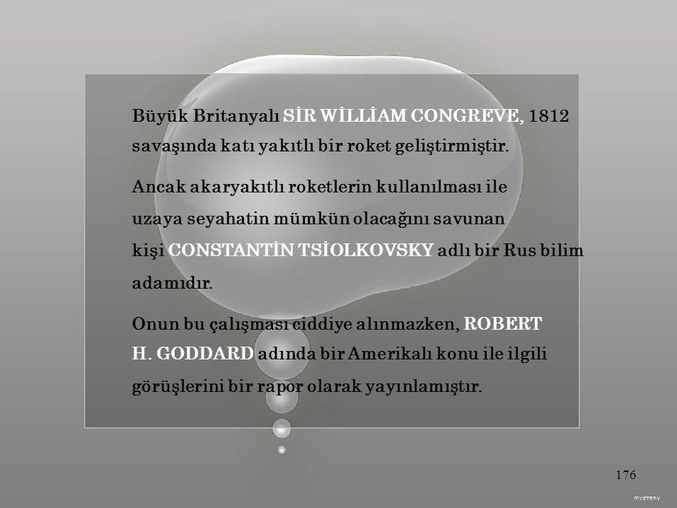 Büyük Britanyalı SİR WİLLİAM CONGREVE, 1812