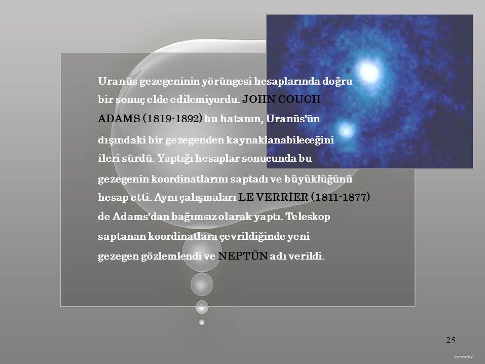 Uranüs gezegeninin yörüngesi hesaplarında doğru